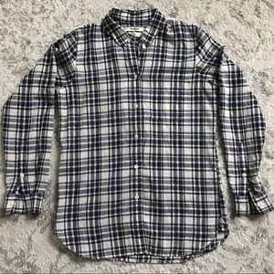 Madewell Slim Button-down in Blue/White Plaid - S